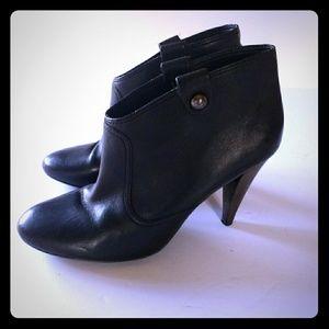 Coach Black Leather Aliza Booties
